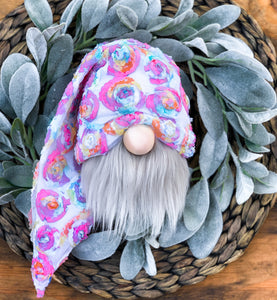 Rainbow Rosette Floral Gnome