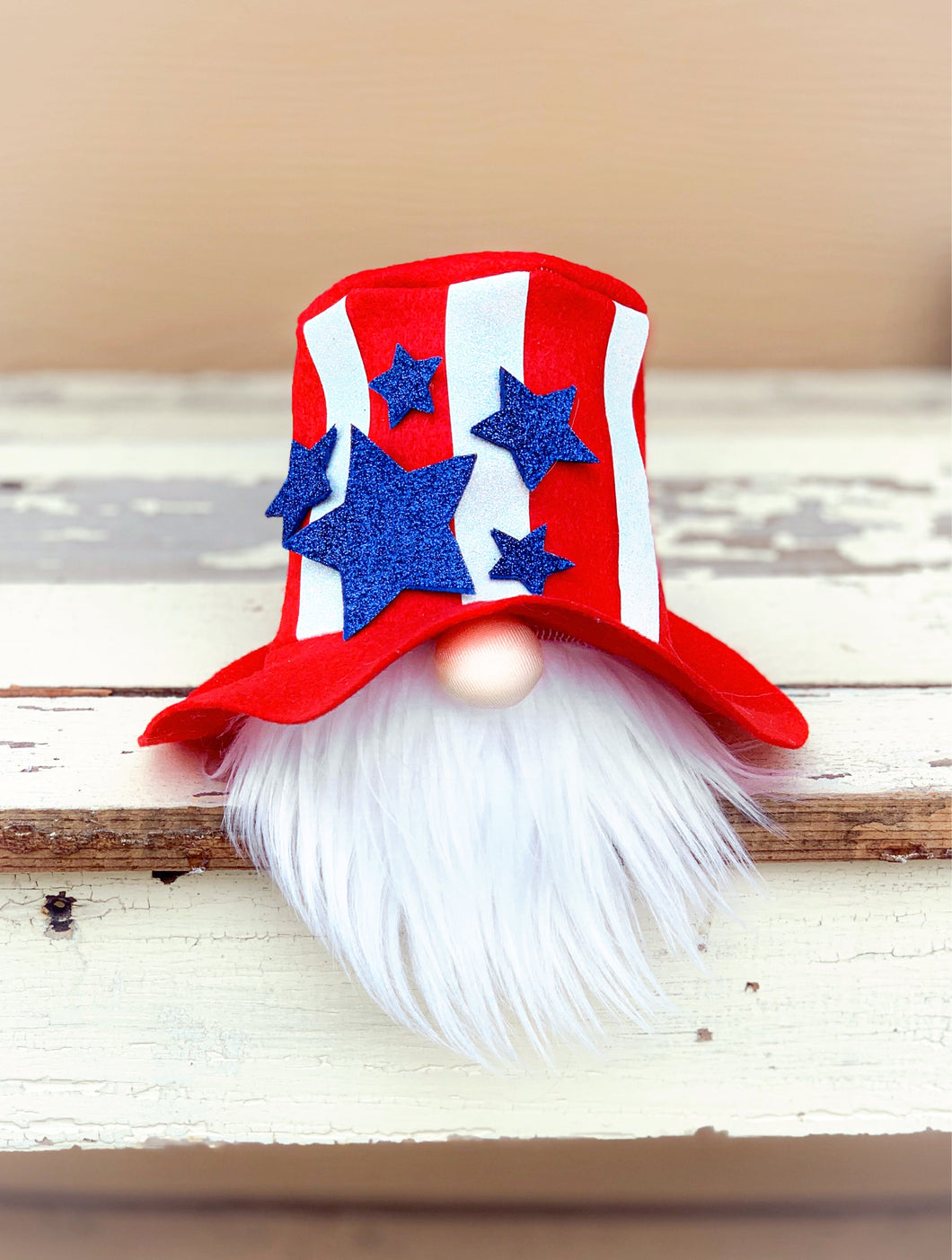 Uncle Sam Patriotic Gnome