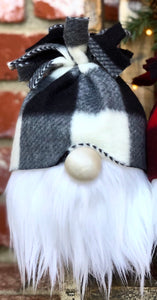 Black & White Buffalo Snow Bunny Gnome