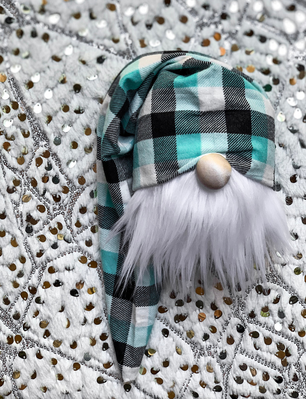 Snowman Plaid Christmas Gnome
