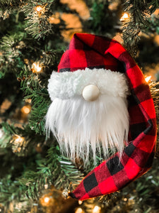 The Plaid Santa Ornament