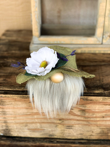 Sage Burlap Tea Party Gnome