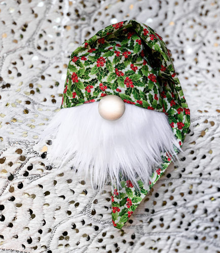 Vintage Holly Christmas Gnome