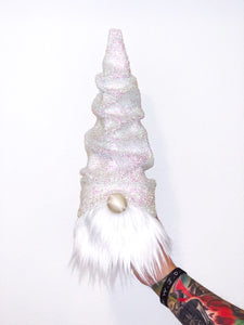 Glitter Snow Christmas Tree Gnome