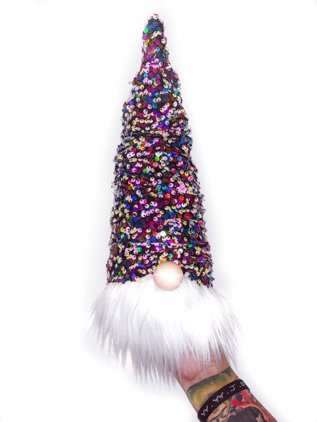 Rainbow Sequins Christmas Tree Gnome