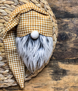 Hayride Gingham Plaid Gnome
