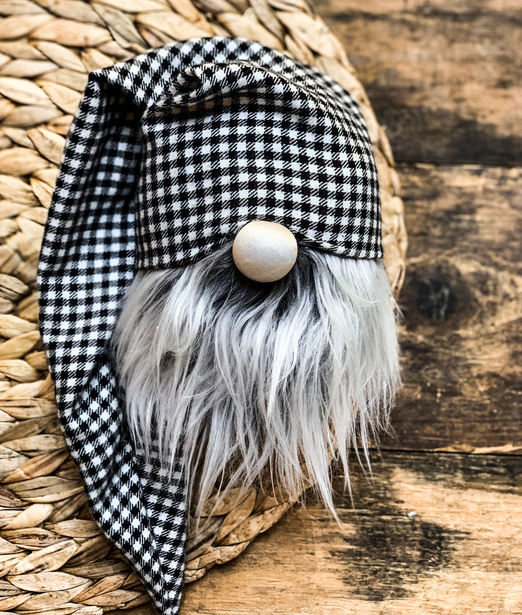 Black Licorice Gingham Plaid Gnome