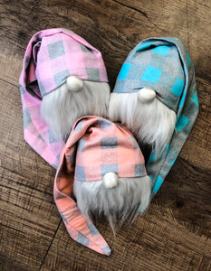 Pastel Buffalo Plaid Triplets