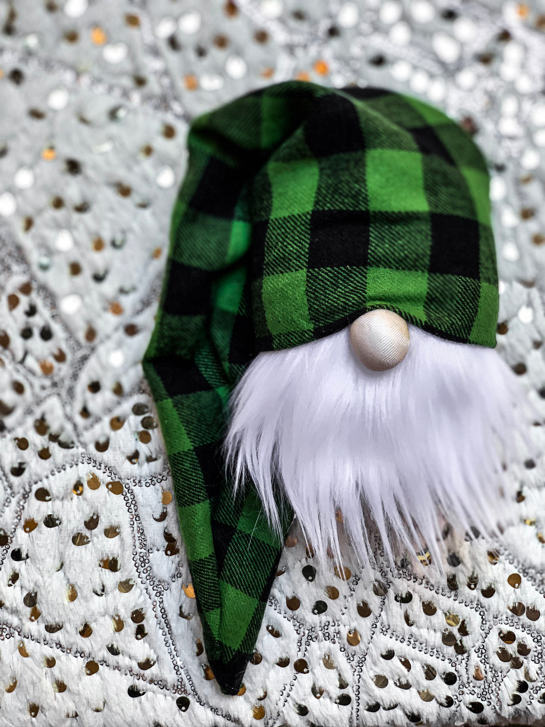 Christmas Tree Plaid Gnome