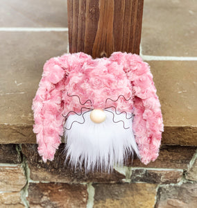 Frosted Rose Bunny Gnome