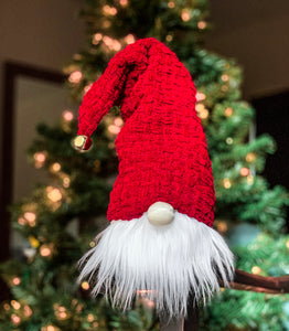 Woven Knit Cap Christmas Gnome