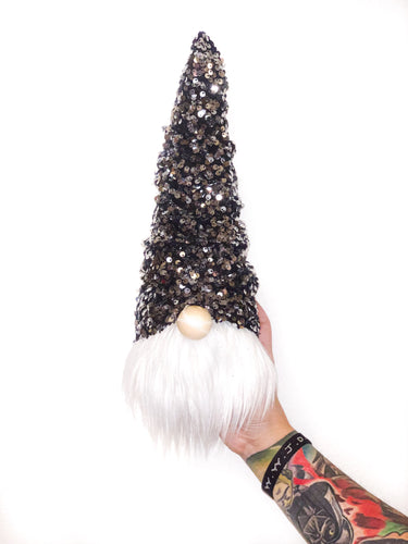 Silver Sequins Christmas Tree Gnome