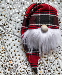Kris Kringle Plaid Christmas Gnome