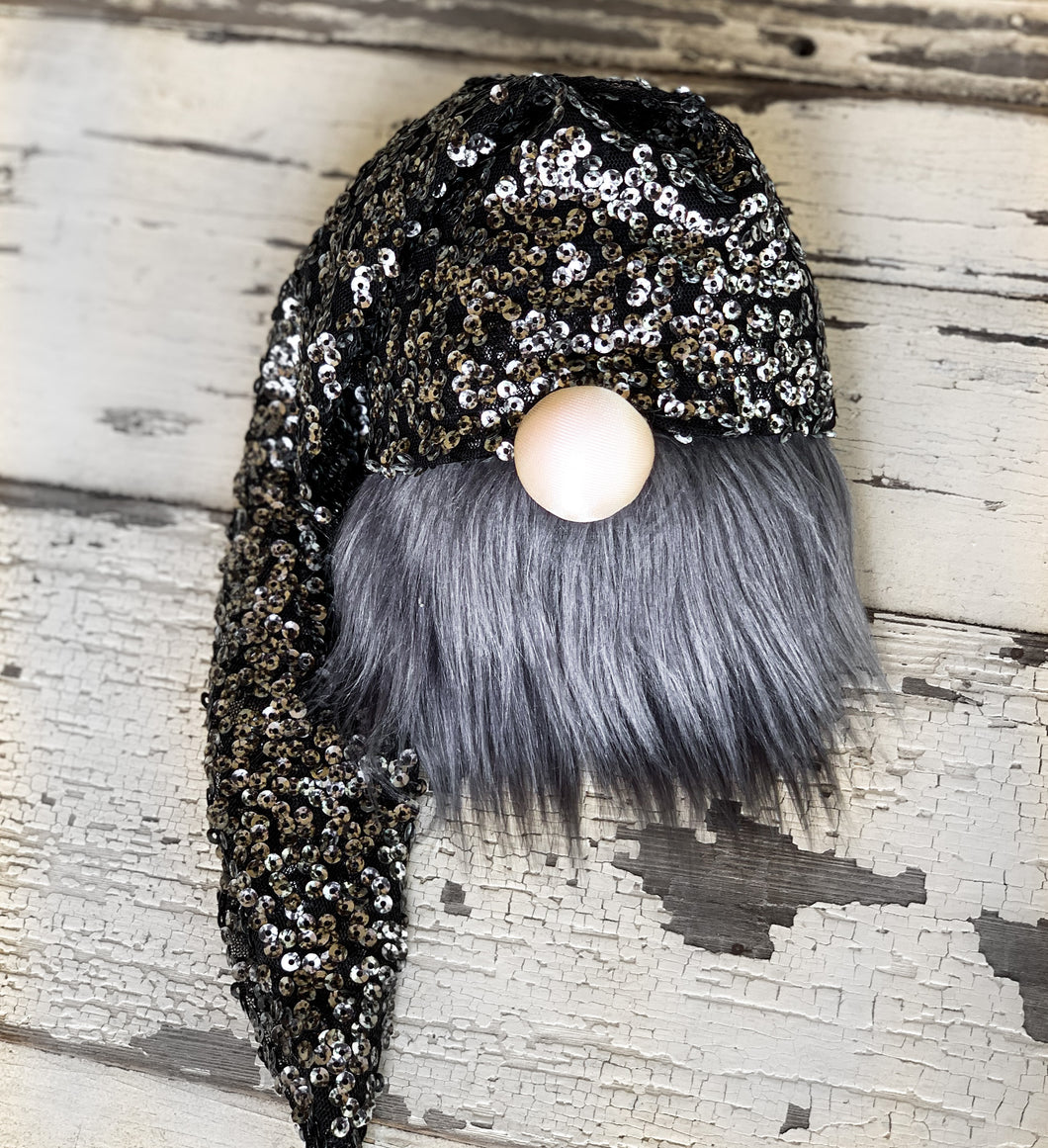 Hammered Sequin Halloween Gnome