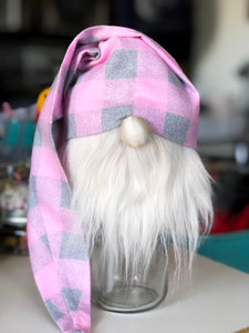 Pink Buffalo Plaid Gnome