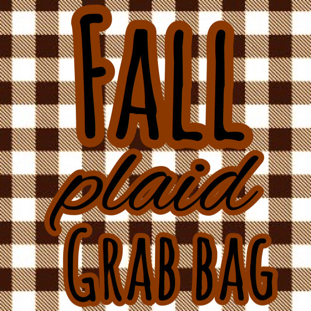 Fall Plaid Grab Bag (3 gnomes)