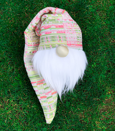 Pink & Green Easter Basket Gnome