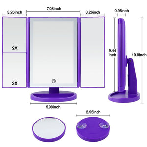 Led Lighted Makeup Vanity Mirror