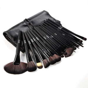 32 Piece Professional Makeup Brush Set-Black