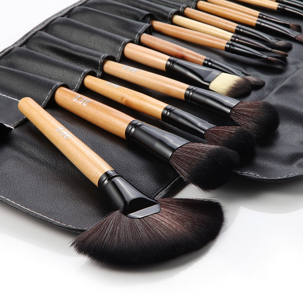32 Piece Professional Makeup Brush Set-Nature