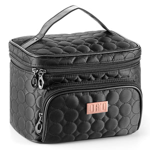 Travel Makeup Bag with Mirror