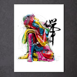 Colorful Buddha Chan 1 Piece Canvas