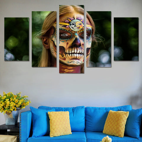 Horror Face Painted 5 Piece Canvas