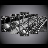 Dumbbells Gym Equipment 5 Piece Canvas