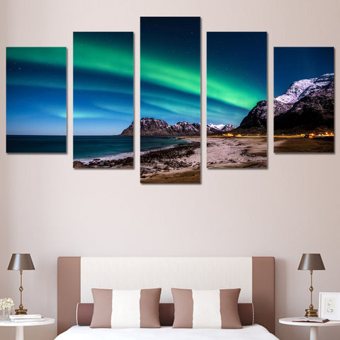 Northern Light Aurora 5 Piece Canvas