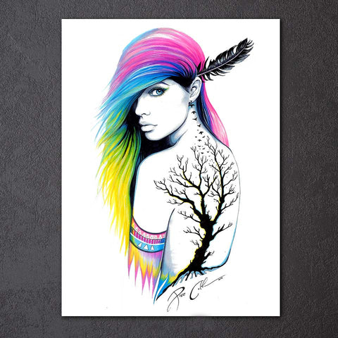 Indian Girl by Pixie Cold Art 1 Piece Canvas
