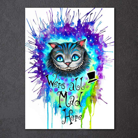 We're All Mad Here by Pixie Cold Art 1 Piece Canvas