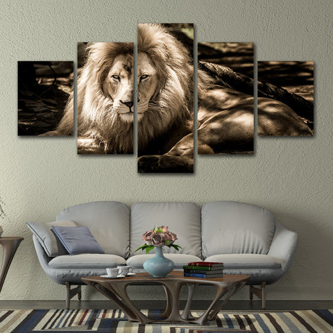 Beautiful Lion King 5 Piece Canvas