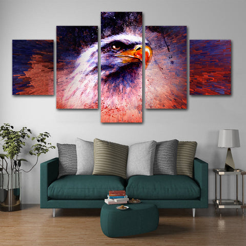 The Eagle Head 5 Pieces Canvas