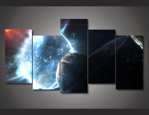 Cosmos Galaxy Star 5 Piece Canvas