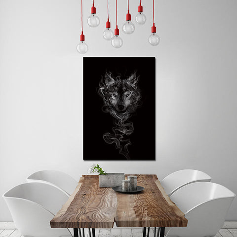 Smoke Wolf by Arina Art 1 Piece Canvas
