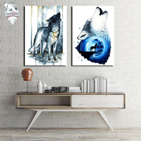 Wolfs BleedingSoul by Scandy Girl 1 Piece Canvas