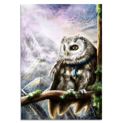 Owl by Khalia 1 Piece Canvas