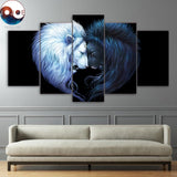 Brotherhood Black by JoJoesArt 5 Piece Canvas
