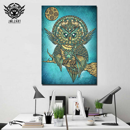 Buho Artsune By jml2arts 1 Piece Canvas