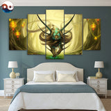 God of Evanescence by JoJoesArt 5 Piece Canvas
