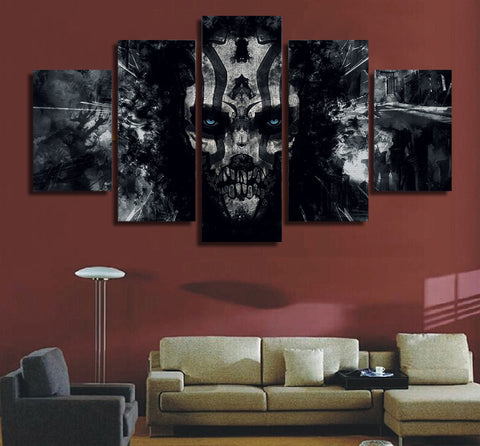 Dark Skull 5 Piece Canvas