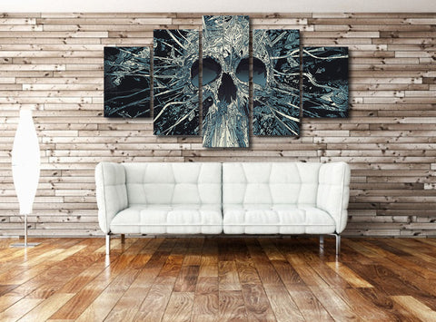 Skull Breakthrough 5 Piece Canvas