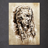 American Indian Chief 1 Piece Canvas