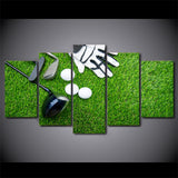 Golf Gloves Clubs Balls 5 Piece Canvas