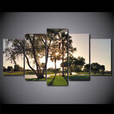 Golf and Trees Sunset 5 Piece Canvas