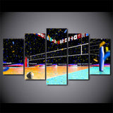 Volleyball Global 5 Piece Canvas