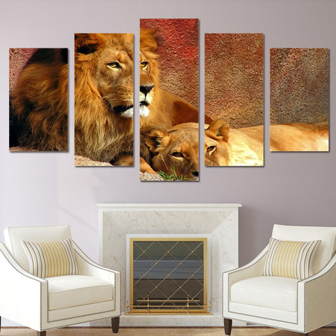 Lions 5 Piece Canvas