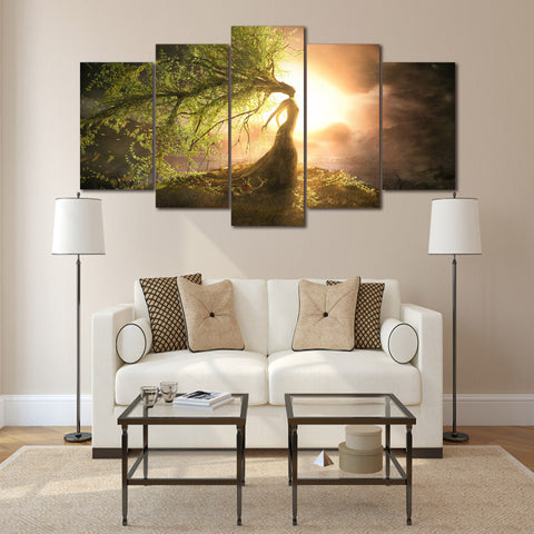 Beautiful Tree Wizard 5 Piece Canvas