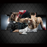 Boxing Match 5 Pieces Canvas