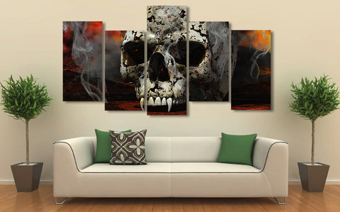 Vampire Skull 5 Piece Canvas